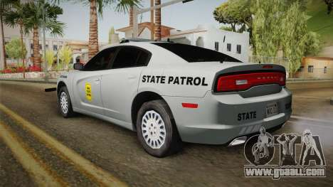 Dodge Charger 2014 Iowa State Patrol for GTA San Andreas left view