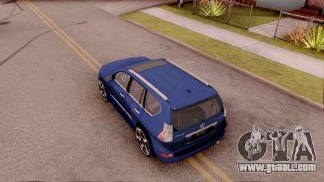 Lexus GX460 for GTA San Andreas back view