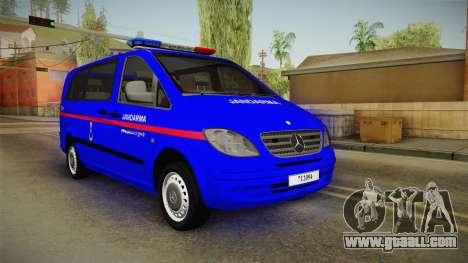 Mercedes-Benz Vito Turkish Gendarmerie for GTA San Andreas
