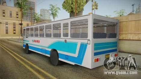 Huanghai DD6111CT Suburban Bus Blue for GTA San Andreas back left view