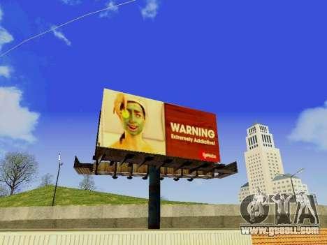 GTA V Billboards v2 for GTA San Andreas second screenshot