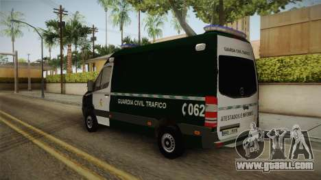 Mercedes-Benz Sprinter GC Trafico Spanish for GTA San Andreas back left view