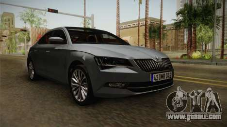 Skoda Superb 2017 for GTA San Andreas right view