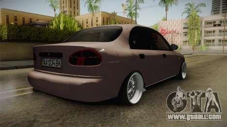 Daewoo Lanos Sedan 2001 for GTA San Andreas back left view