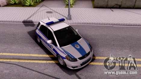 Suzuki SX4 Policija for GTA San Andreas right view