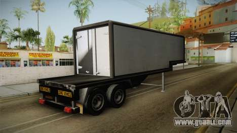 Volvo FH16 660 8x4 Convoy Heavy Weight Trailer 1 for GTA San Andreas back left view