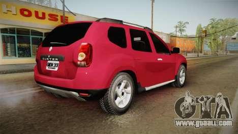 Renault Duster for GTA San Andreas left view