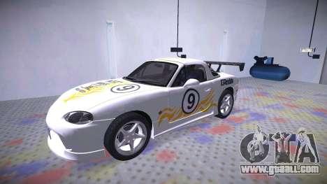 Mazda MX-5 Miata for GTA San Andreas upper view