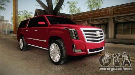 Cadillac Escalade 2016 for GTA San Andreas right view