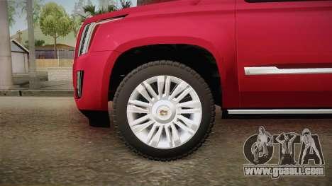 Cadillac Escalade 2016 for GTA San Andreas back view