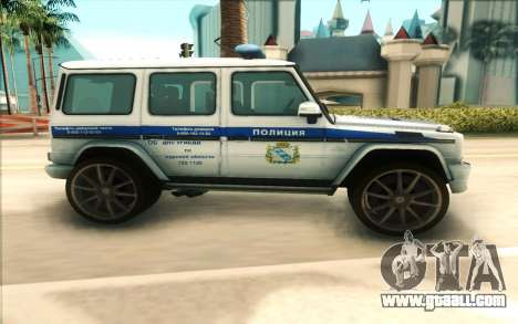 Mercedes-Benz G65 Police for GTA San Andreas left view