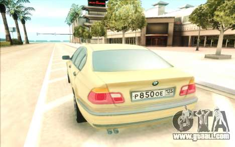 BMW 320 for GTA San Andreas back view