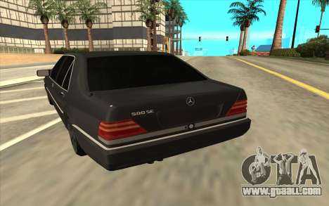 Mercedes-Benz W140 for GTA San Andreas right view