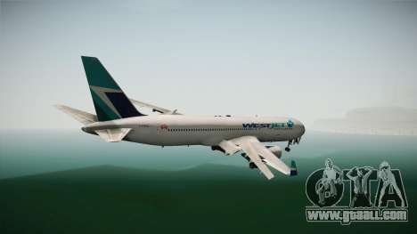 Boeing 767-338ER WestJet Airlines for GTA San Andreas right view