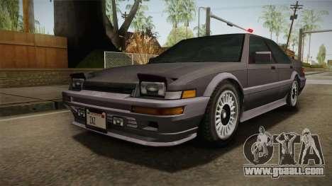 GTA 4 Dinka Hakumai Tuned Bumpers for GTA San Andreas