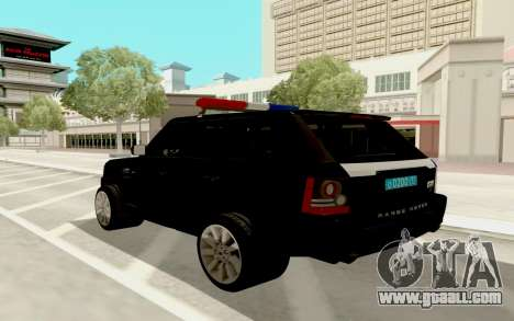 Range Rover Sport Police for GTA San Andreas back left view