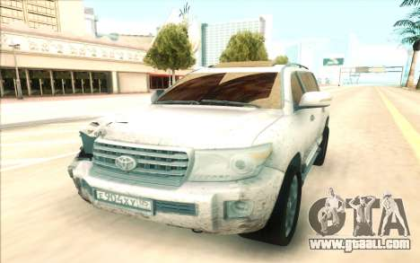 Toyota Land Cruiser 200 for GTA San Andreas back view