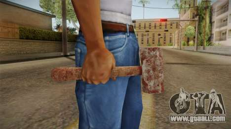 Leatherface Butcher Weapon 1 for GTA San Andreas third screenshot