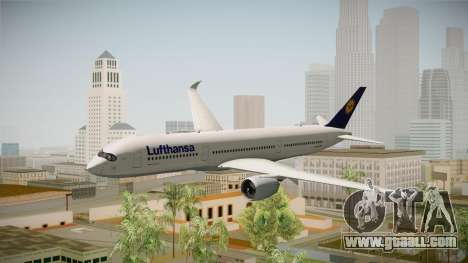 Airbus A350-941 XWB Lufthansa for GTA San Andreas back left view