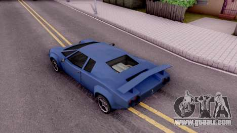 Infernus From Vice City for GTA San Andreas back view