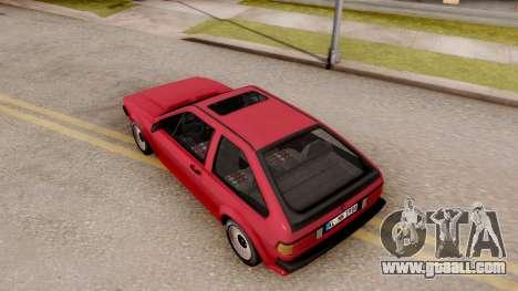 Volkswagen Scirocco Mk2 Stock for GTA San Andreas back view
