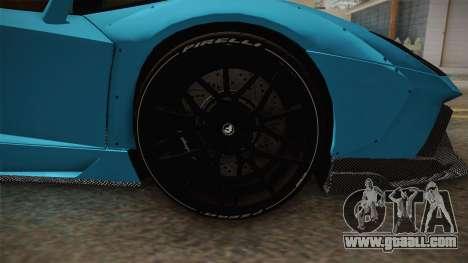 Lamborghini Aventador LP700-4 LB Walk v2 for GTA San Andreas back view
