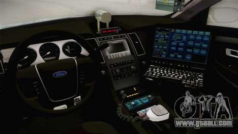 Ford Taurus Turkish Highway Patrol for GTA San Andreas inner view