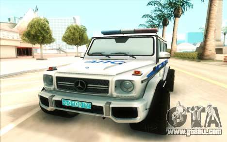 Mercedes-Benz G65 Police for GTA San Andreas back view