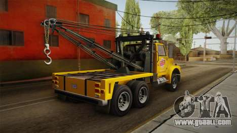 GTA 5 Vapid Towtruck Large Cleaner IVF for GTA San Andreas left view