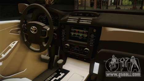Toyota Vios 2014 Philippine National Police for GTA San Andreas inner view