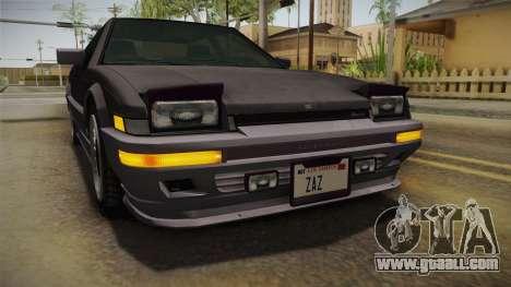 GTA 4 Dinka Hakumai Tuned Bumpers for GTA San Andreas side view