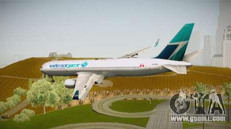 Boeing 767-338ER WestJet Airlines for GTA San Andreas left view