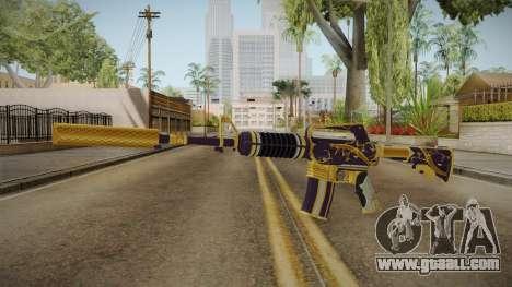 CS:GO - M4A1-S Gold Coil for GTA San Andreas second screenshot