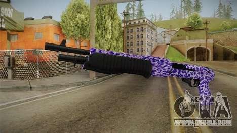 Tiger Violet Shotgun 2 for GTA San Andreas
