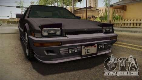 GTA 4 Dinka Hakumai Tuned Bumpers for GTA San Andreas inner view