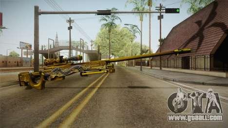 Cross Fire - AWM Infernal Oragon Noble Gold for GTA San Andreas second screenshot