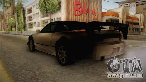 Nissan 240SX Lowpoly for GTA San Andreas left view