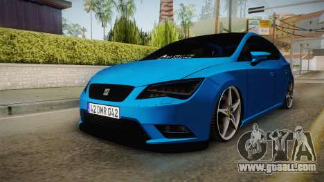 Seat Leon FR Blue for GTA San Andreas right view