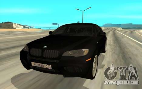 BMW X6 for GTA San Andreas left view