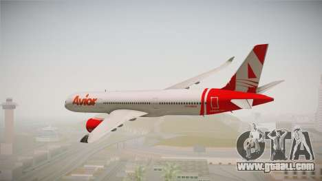 Airbus A350 Avior Airlines (Fictional) for GTA San Andreas right view