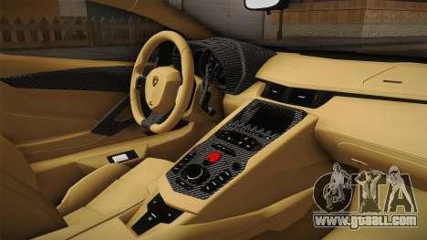 Lamborghini Aventador LP700-4 LB Walk v2 for GTA San Andreas inner view