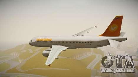 Airbus A320 Conviasa for GTA San Andreas left view