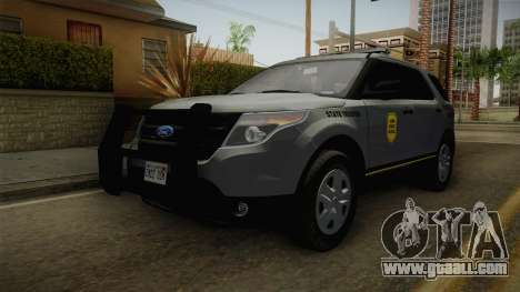 Ford Explorer 2014 Iowa State Patrol for GTA San Andreas right view