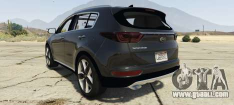 GTA 5 Kia Sportage 2017 2.5 left side view