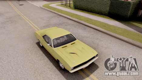 Plymouth Hemi Cuda 440 1970 for GTA San Andreas right view