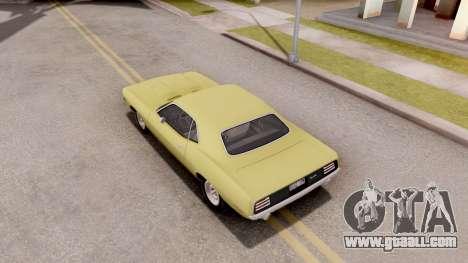 Plymouth Hemi Cuda 440 1970 for GTA San Andreas back view