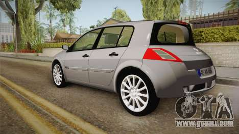 Renault Megane RS for GTA San Andreas left view