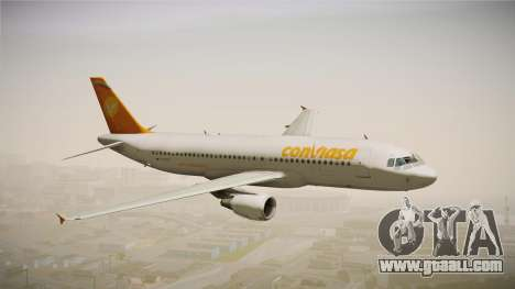 Airbus A320 Conviasa for GTA San Andreas back left view