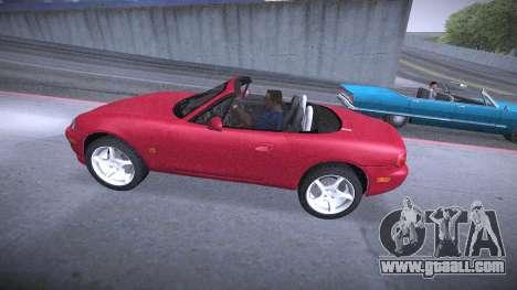 Mazda MX-5 Miata for GTA San Andreas inner view