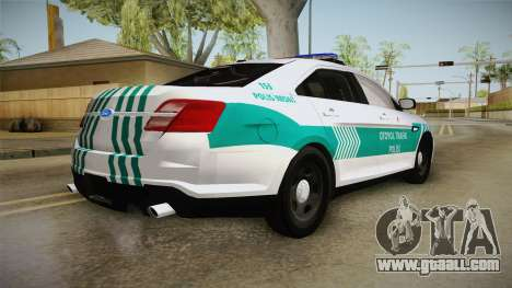 Ford Taurus Turkish Highway Patrol for GTA San Andreas right view